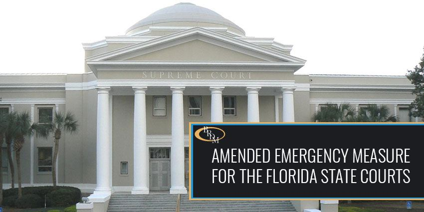 Amended Emergency Measure for the Florida State Courts