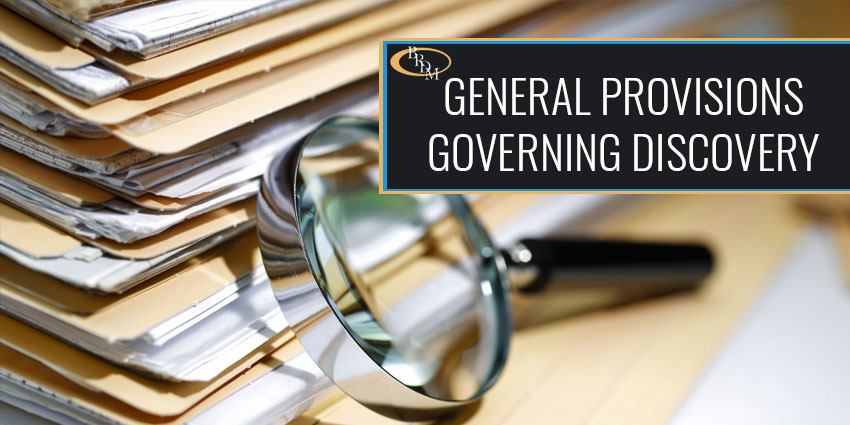 GENERAL PROVISIONS REGARDING DISCOVERY IN THE STATE OF FLORIDA