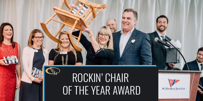 Rachel Drude-Tomori Was Awarded the Rockin' Chair of the Year Award