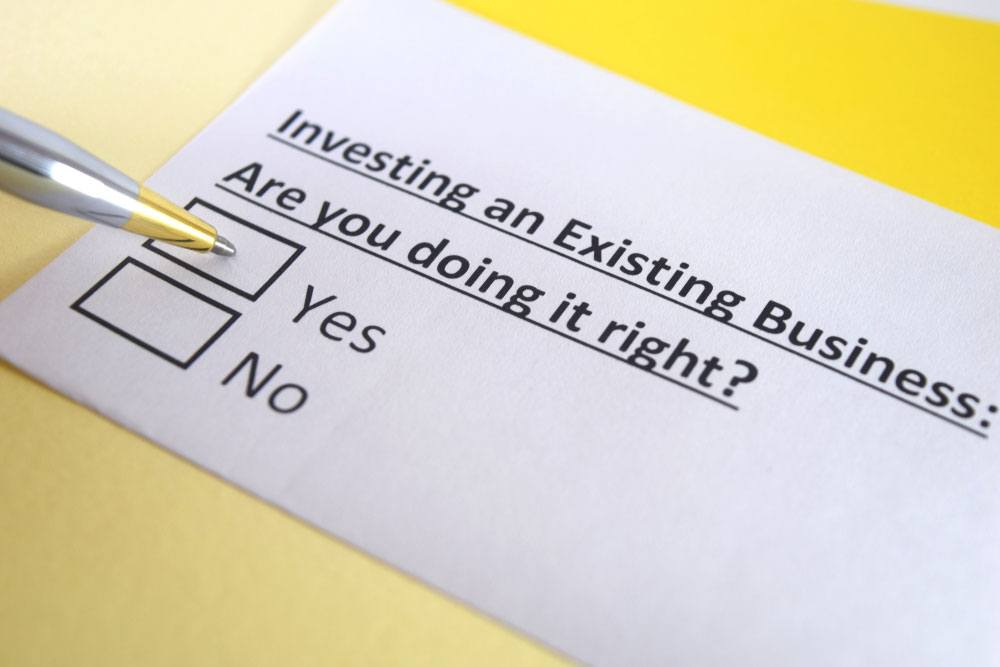 Investing in an existing business
